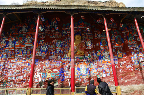 仏像の壁画